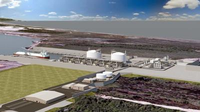 Jordan Cove Energy Project - conceptual drawing