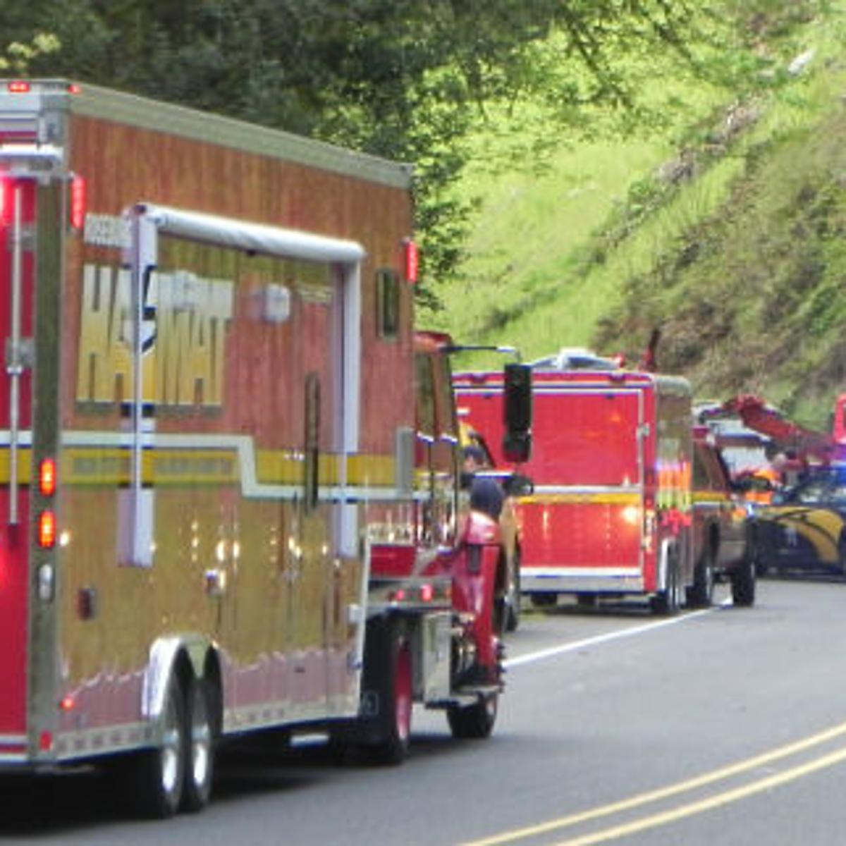 Highway 38 crash kills Gold Beach man, prompts HazMat response