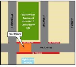 Fulton Road Closure MAP