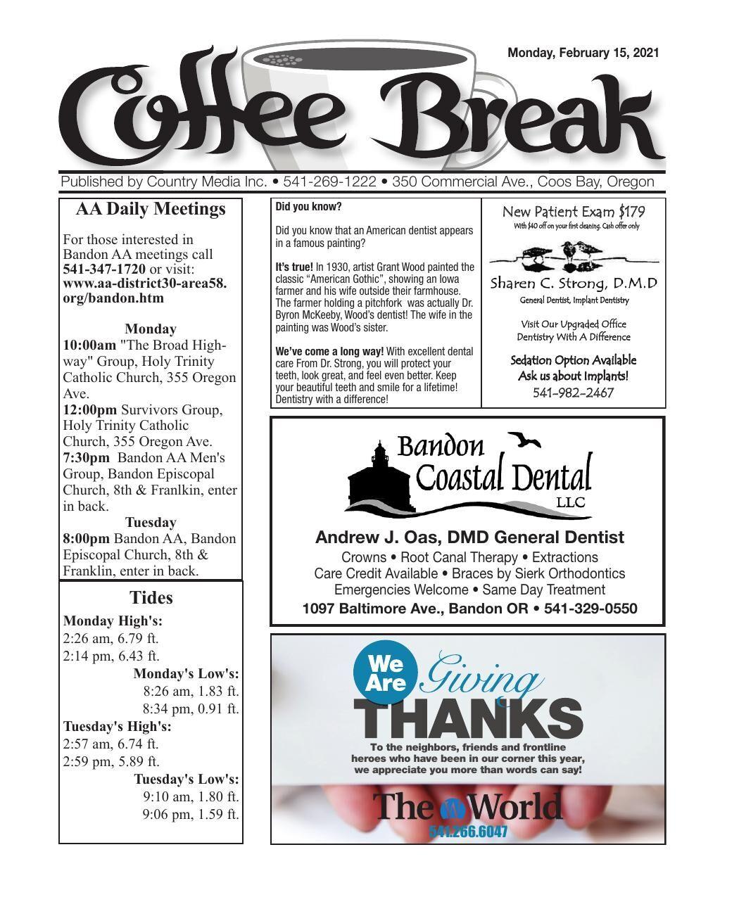 The Coffee Break 02-15-21