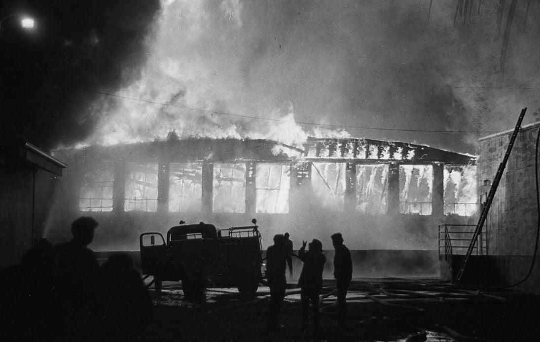 Bandon High School fire, Jan. 1974