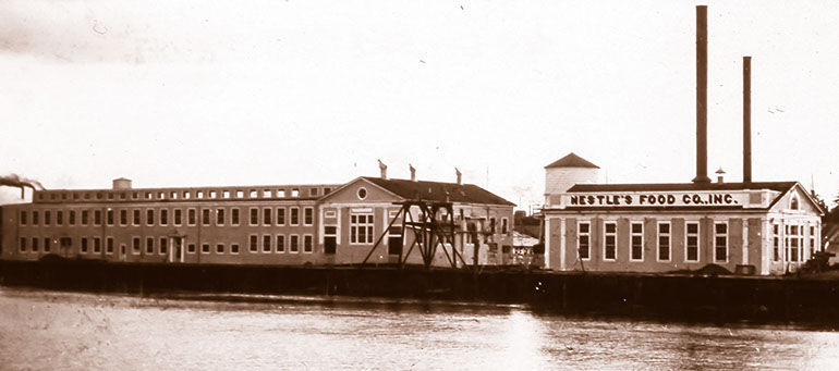 The old Nestle Foods condensery on Bandon's waterfront.