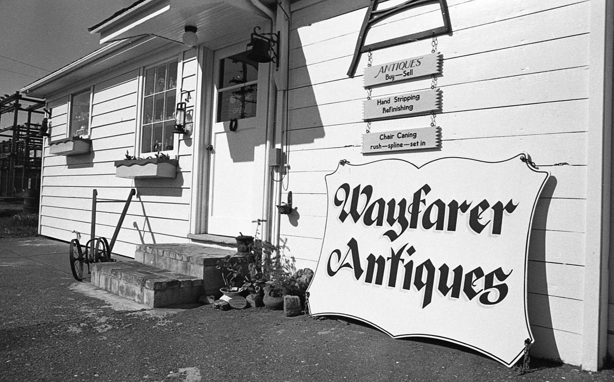 Wayfarer Antiques in Old City Hall building, 1975