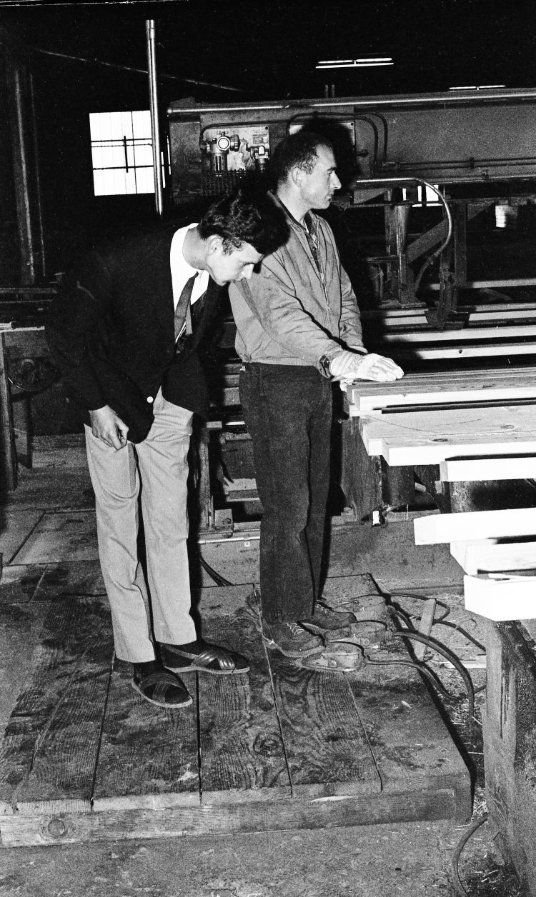 Bill Ellis, right, with Nils Lau of Germany at Rogge Mill, June 1966