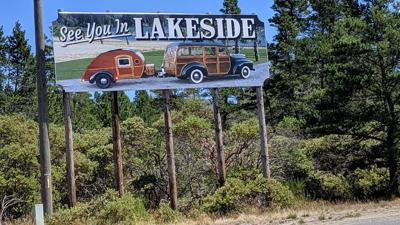Lakeside sign