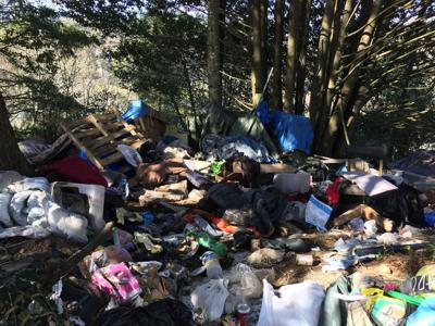 Transient camp cleanup