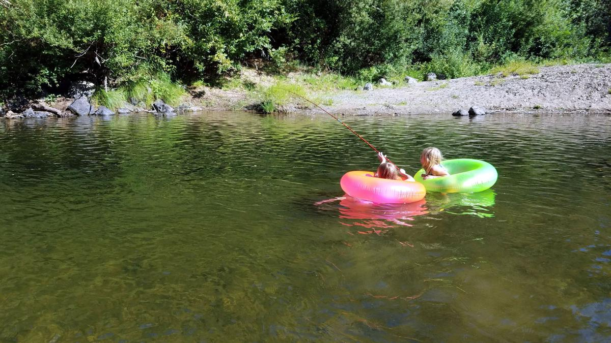 The Gensorek girls fishing the Coquille River