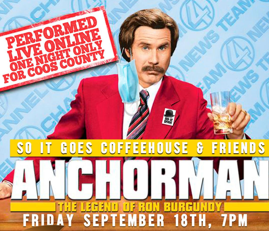 'Anchorman' live reading on FRiday, Sept. 18