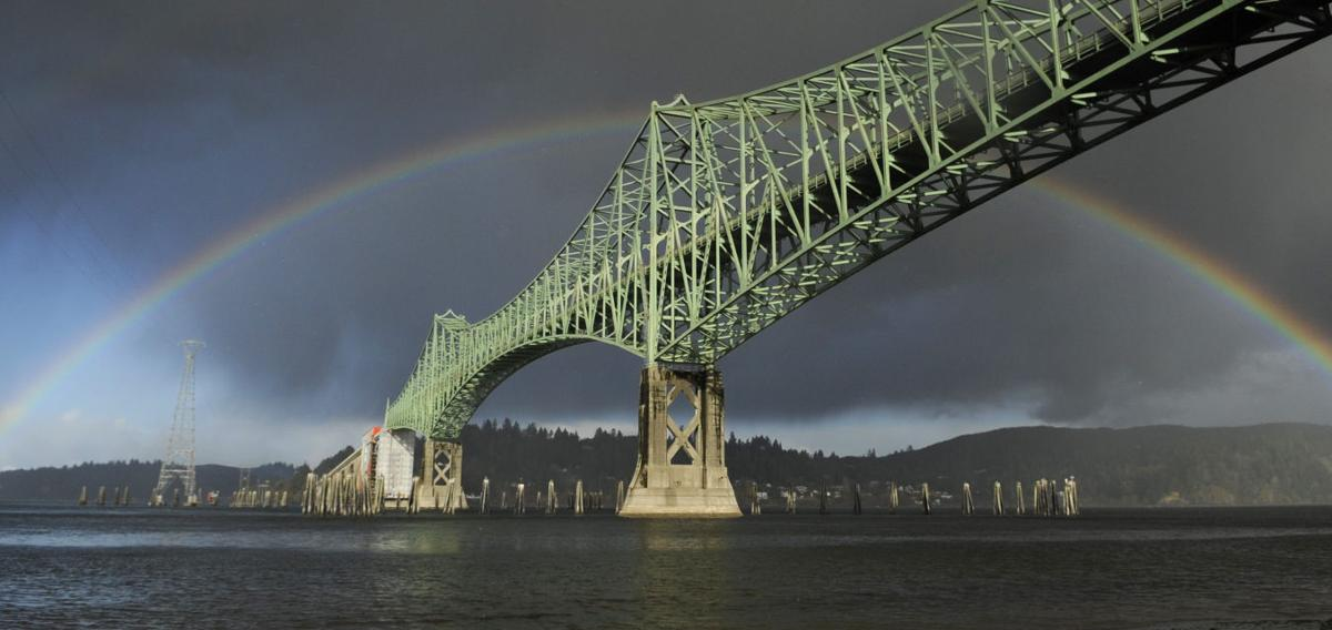 McCullough Bridge Rainbow STOCK