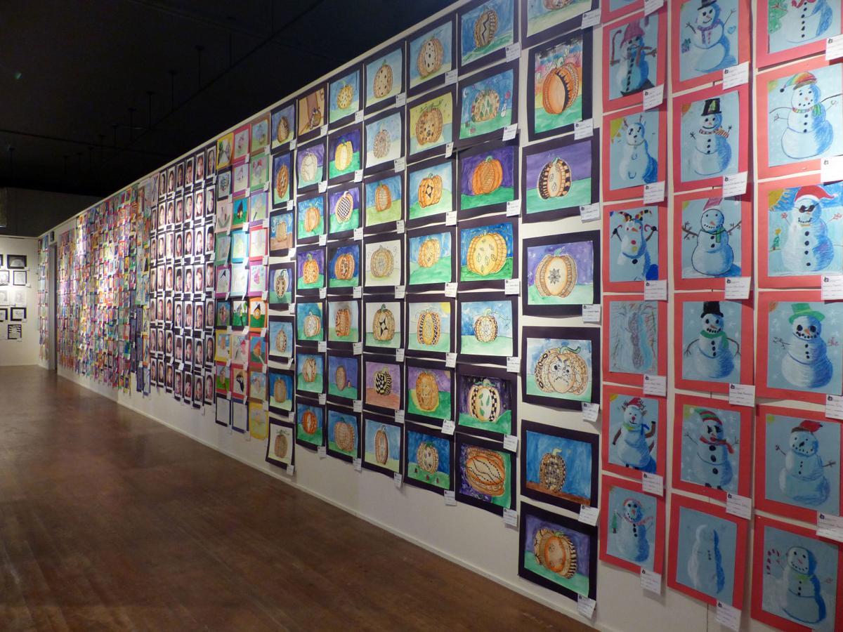 Sunset School art at Student Biennial 1