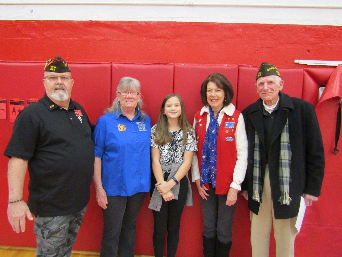 Melanie Lambson and local VFW members