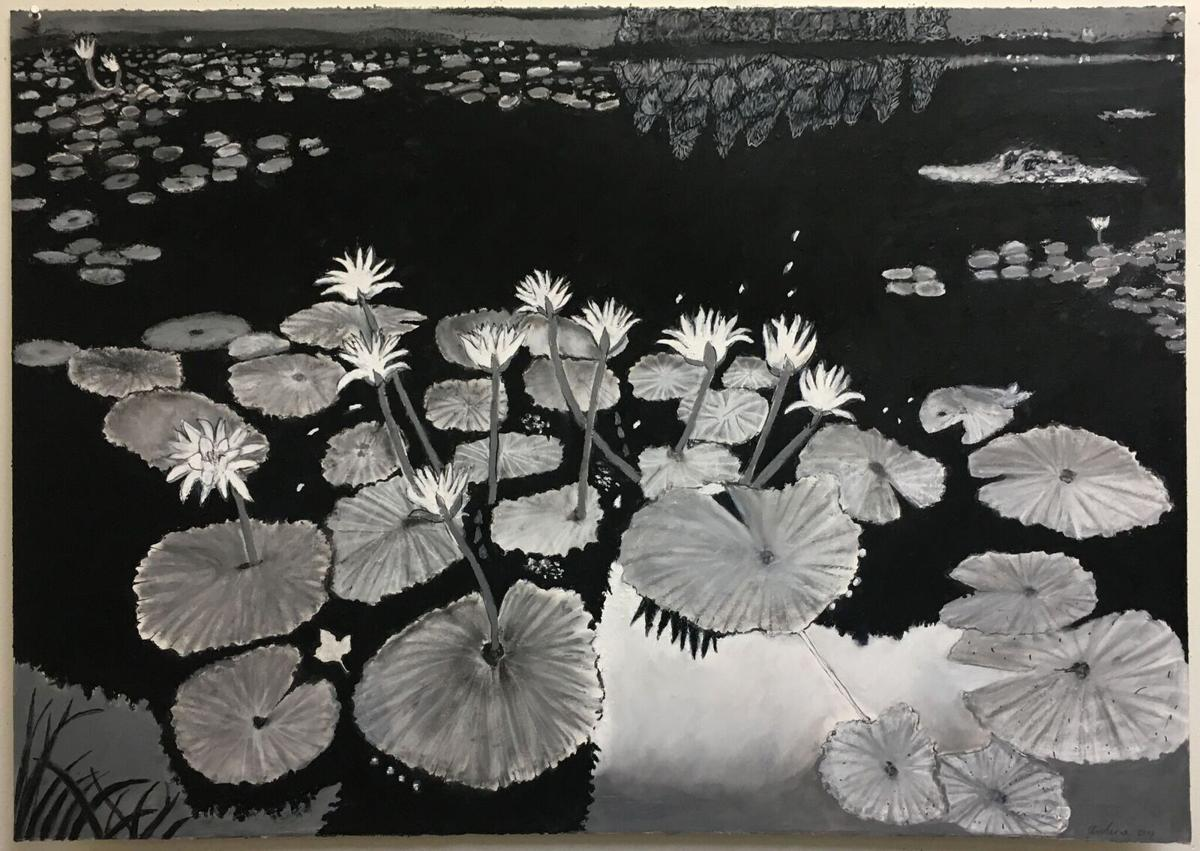 Water Lilies after Eugène Atget's Nymphèa