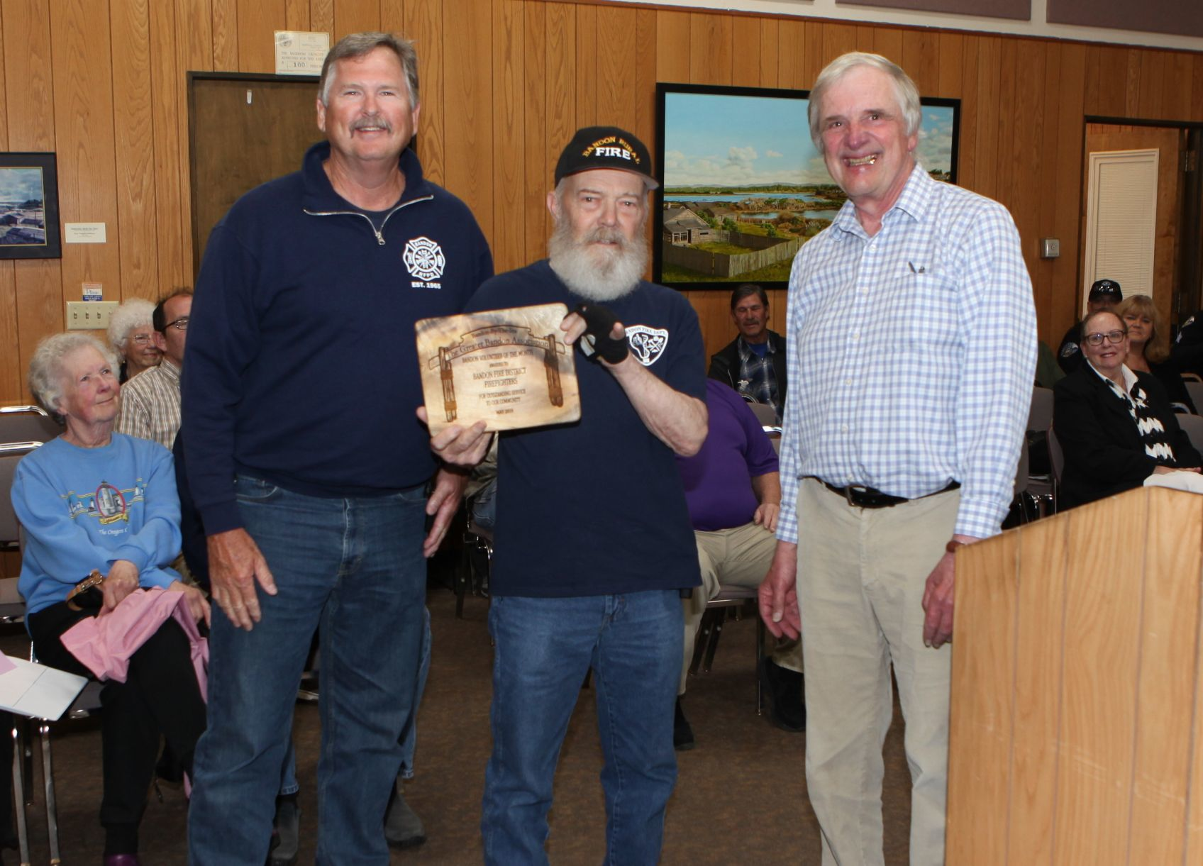 Bandon firefighters chosen as GBA Volunteers of the Month