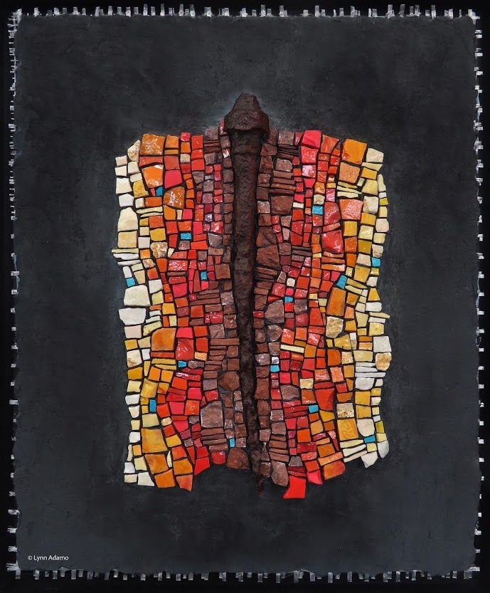 Bandon Library Art Gallery Mosaic Show -  'Activate the Midline' by Lynn Adamo