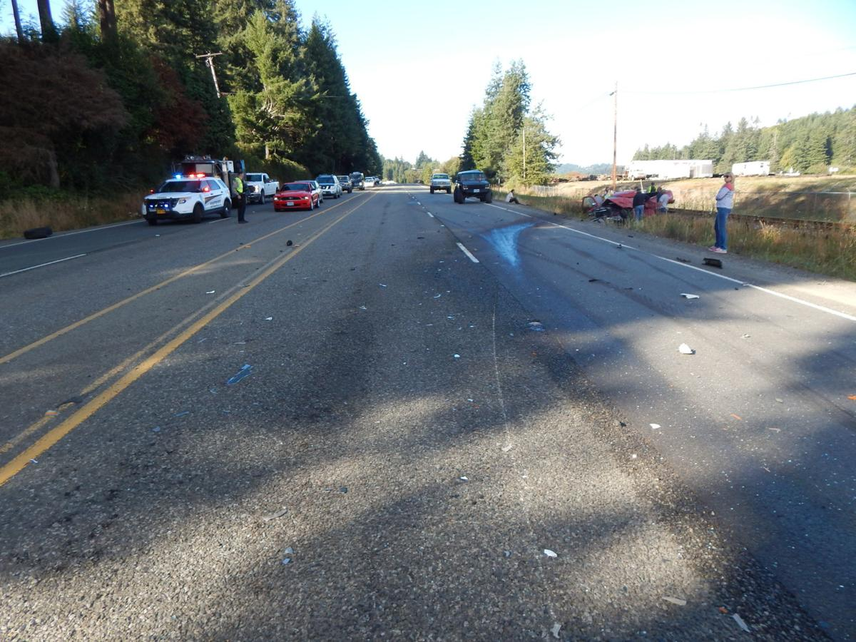 3 vehicle crash on Highway 101 near Coos Bay