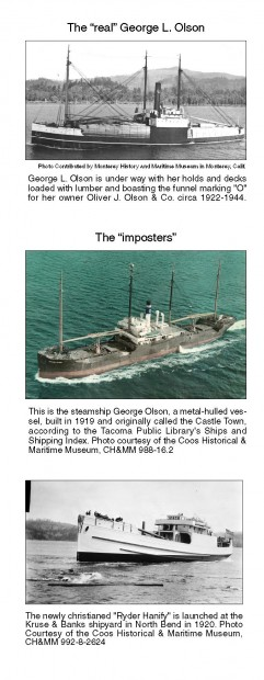 Not all George Olsons created equal: the 'mystery' vessel and its imposters
