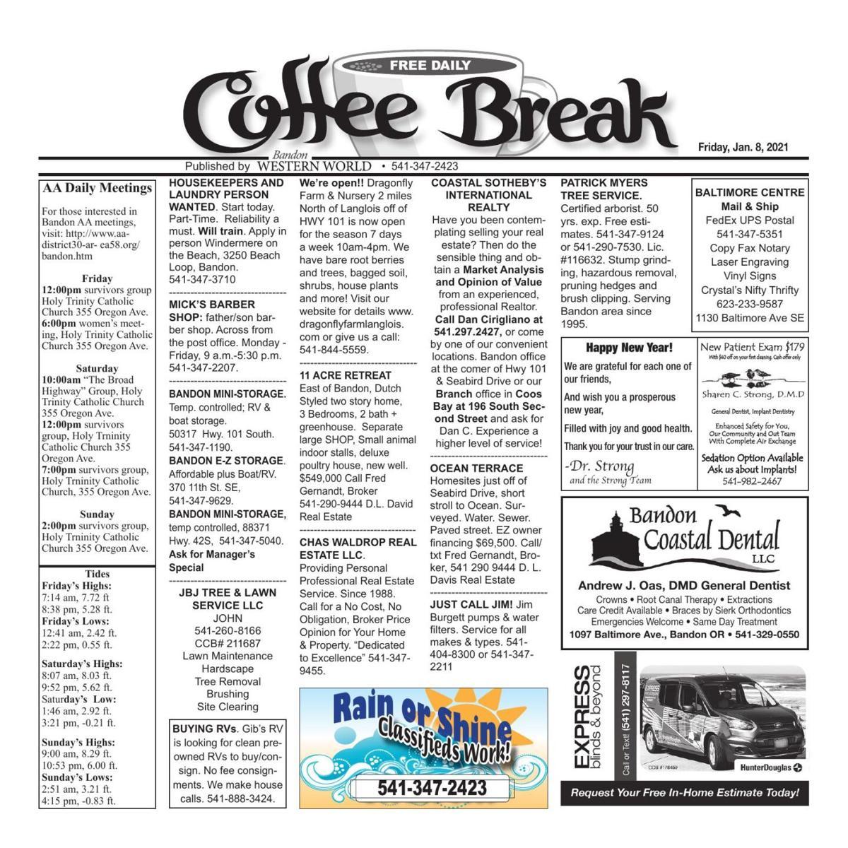 Jan. 08, 2021 Coffee Break