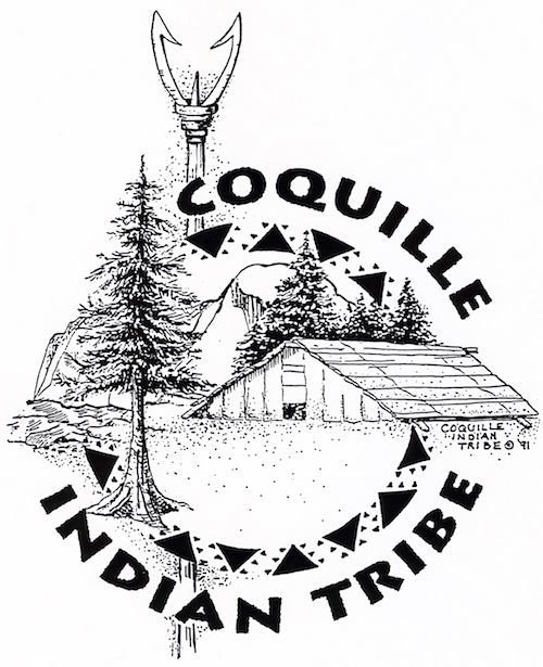Joan Metcalf Coquille Indian Tribe emblem