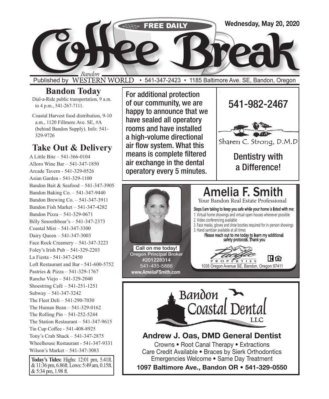 May 20, 2020 Coffee Break