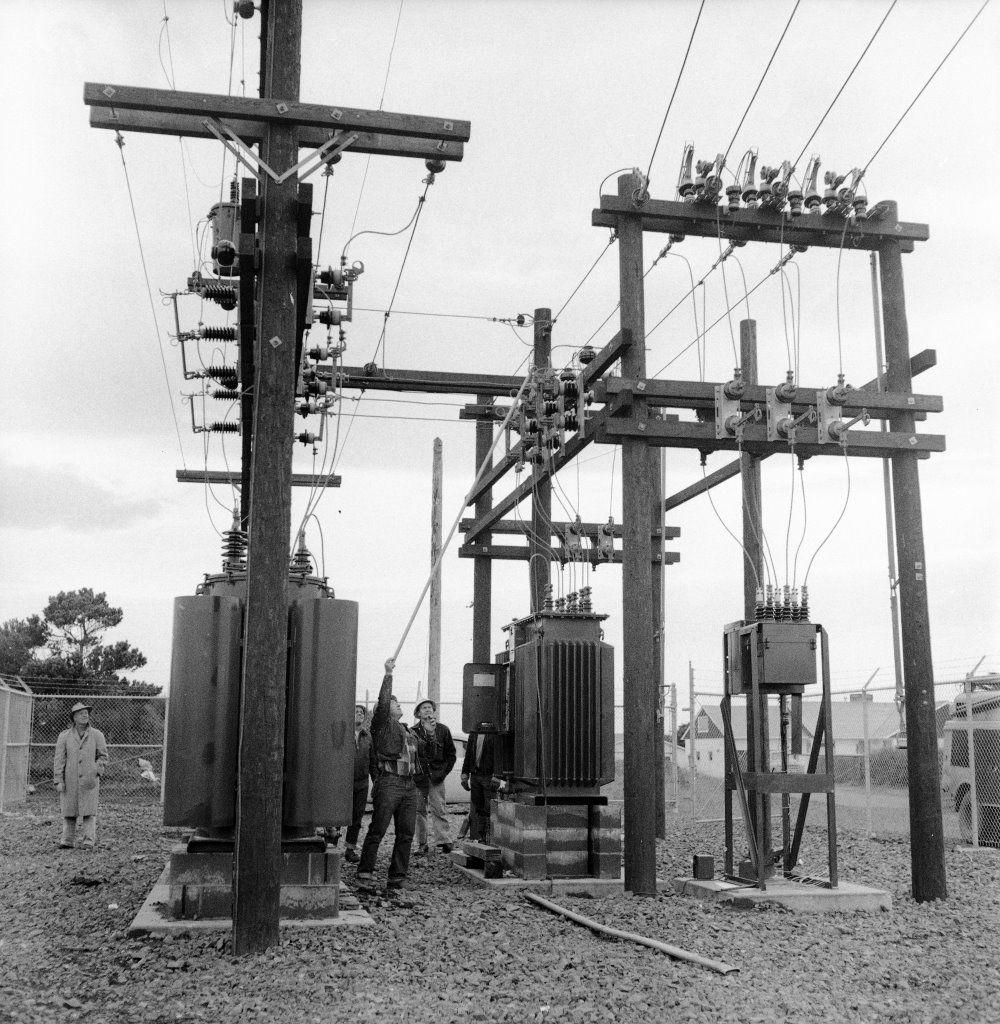 City of Bandon's substation, 1957