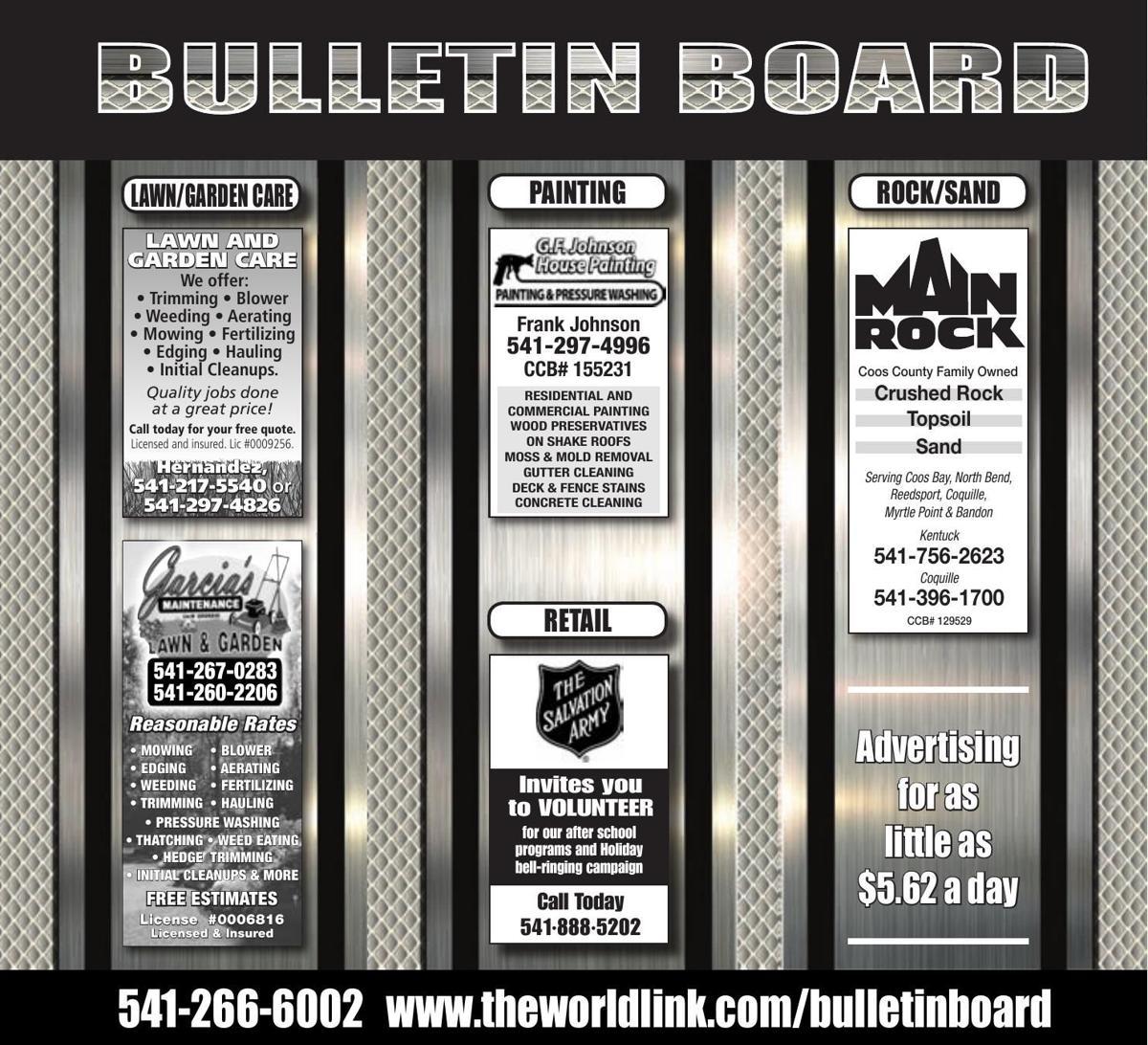 Bulletin Board Week Ending Oct. 14, 2017