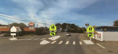 Proposed crosswalk at 9th and U.S. Highway 101