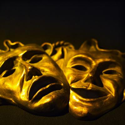 comedy and tragedy masks theater