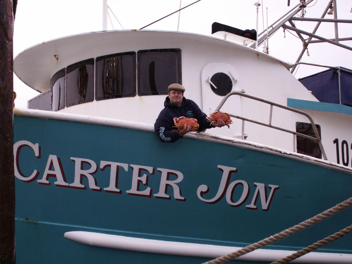 Nick Edwards with his fishing boat Carter Jon