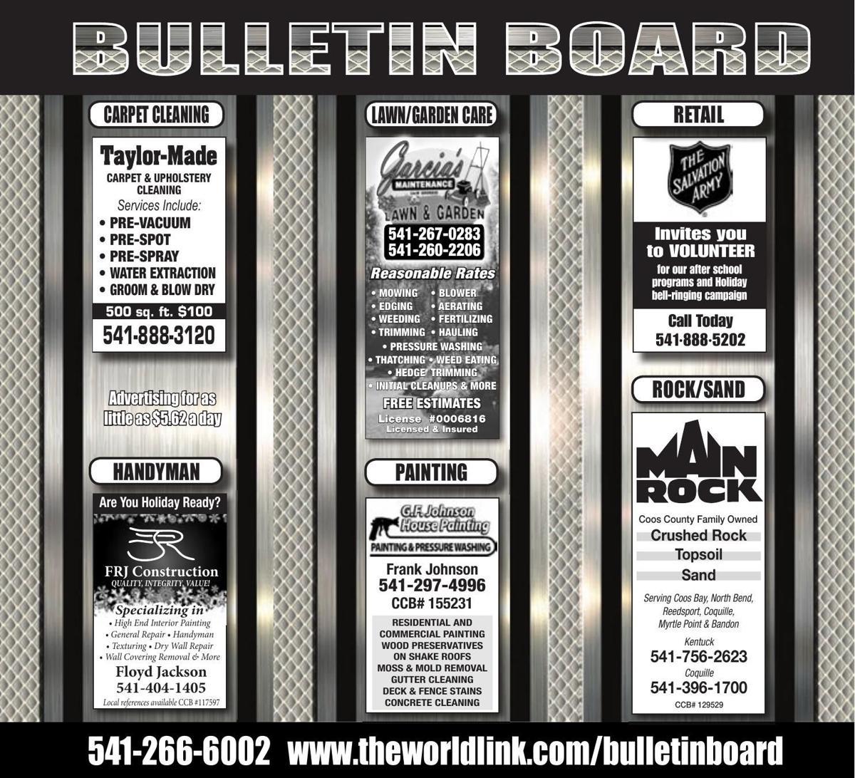 Bulletin Board Week Ending Oct. 28, 2017