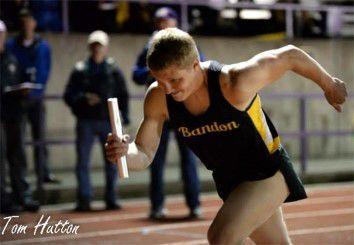 Jared Duval on BHS track team