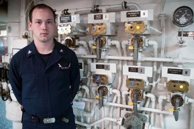 North Bend High School graduate now serving on aircraft carrier