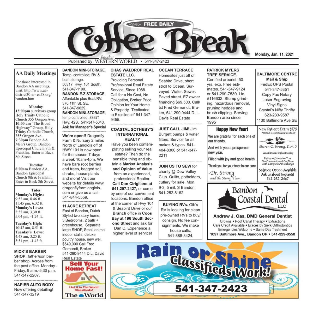 Jan. 11, 2021 Coffee Break