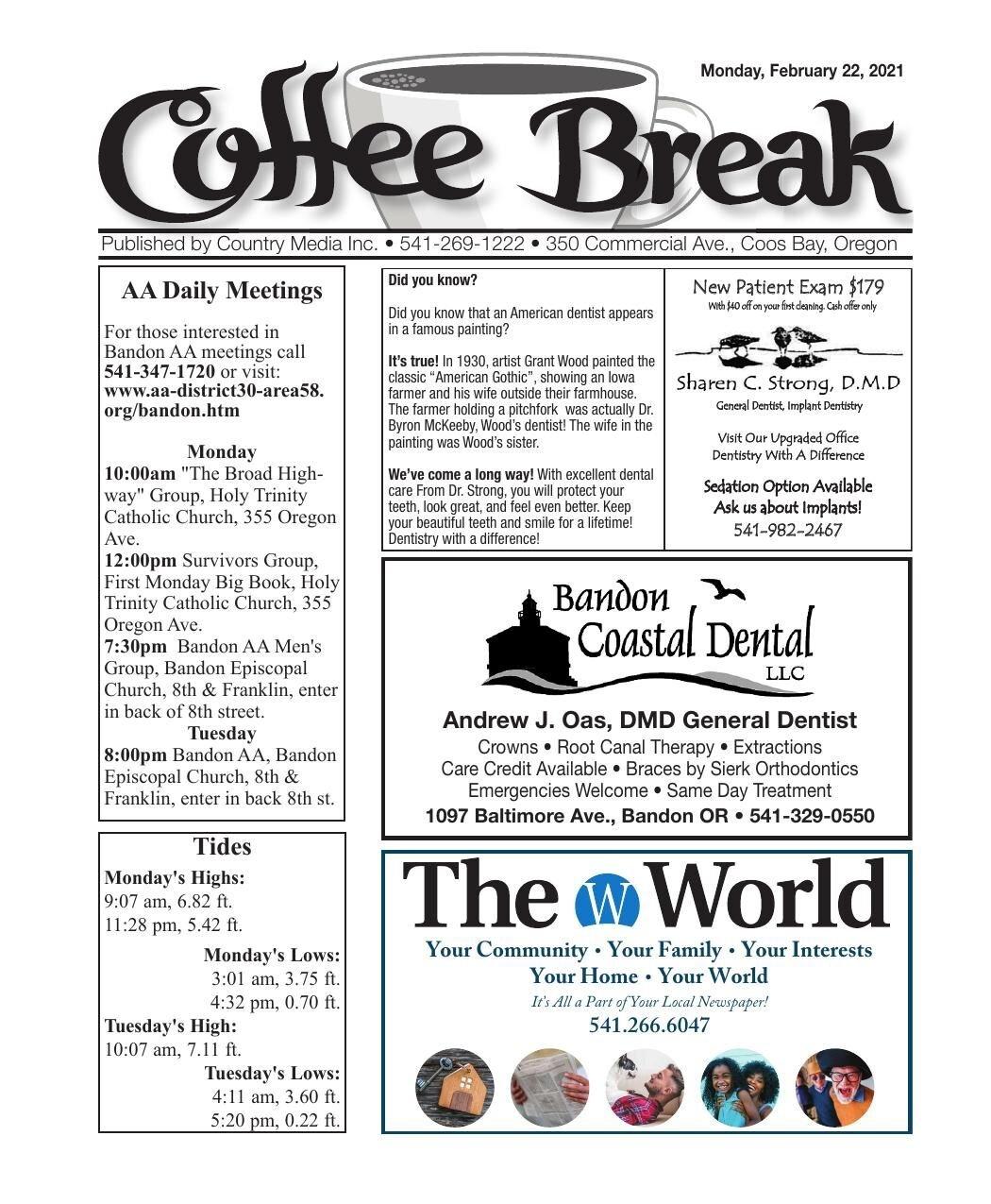 February 22, 2021 Coffee Break