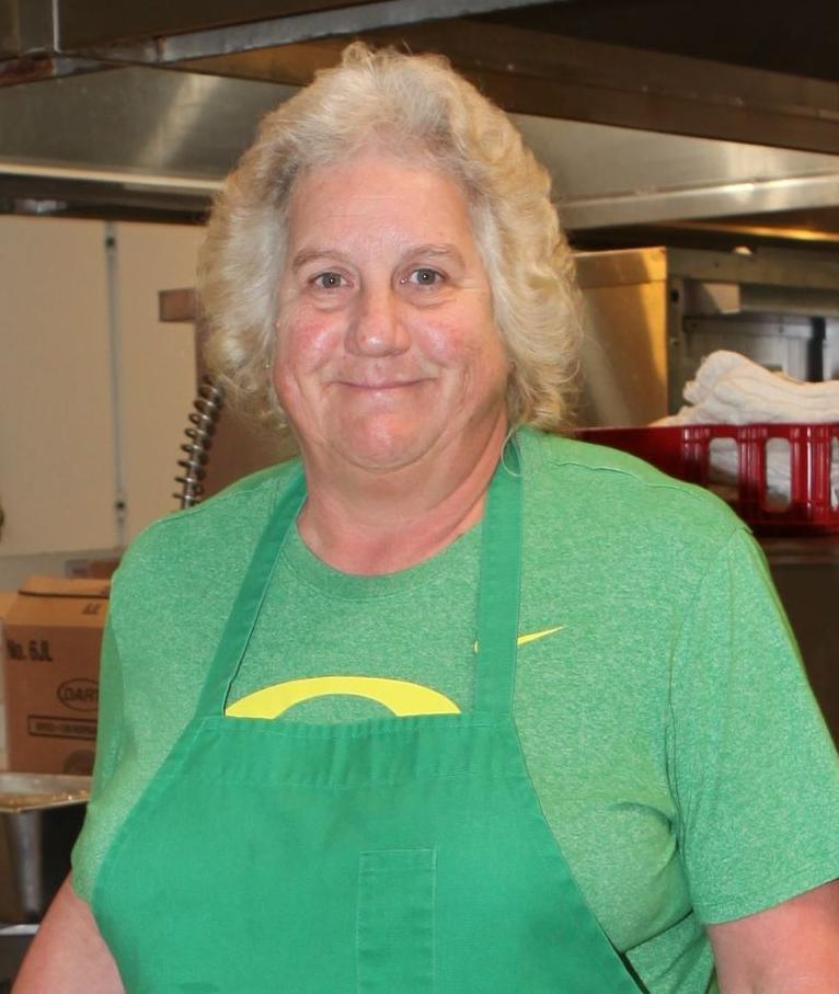Sharon Haga in the Bandon School District cafeteria -- Sharon Haga