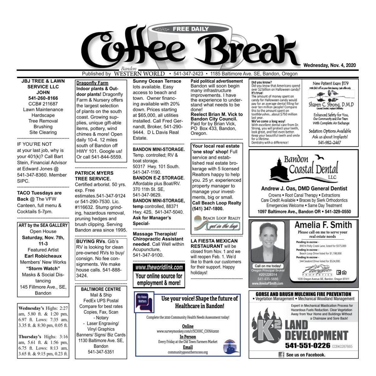Nov. 4, 2020 Coffee Break
