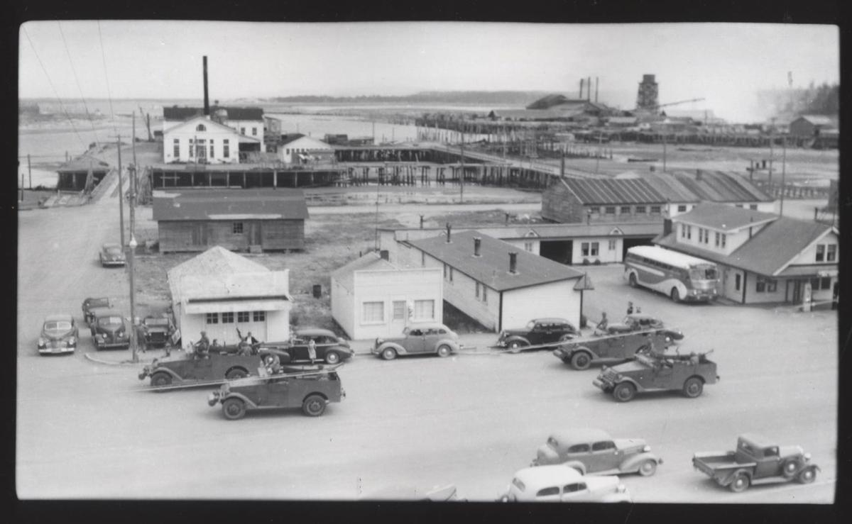 Bob Otto Court at Elmira and U.S. Highway 101 in the 1950s