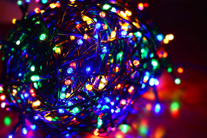 Multi color led string holiday lights Christmas