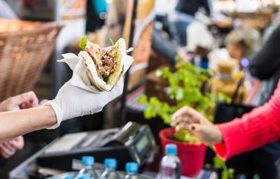 Street fair food vendor