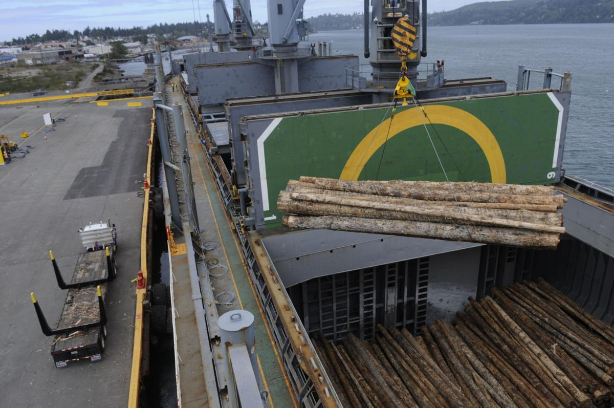 Three Log Load ~ K log exports sends off its first full load business