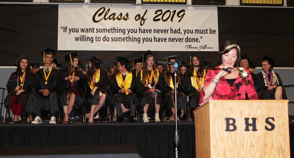 BHS Class of 2019 - on stage