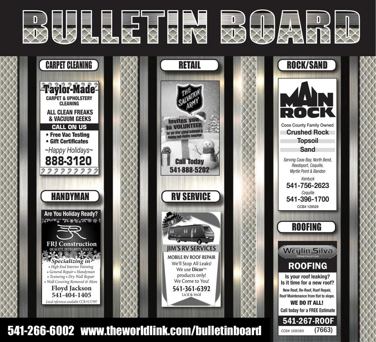 Bulletin Board Week Ending Dec. 2, 2017