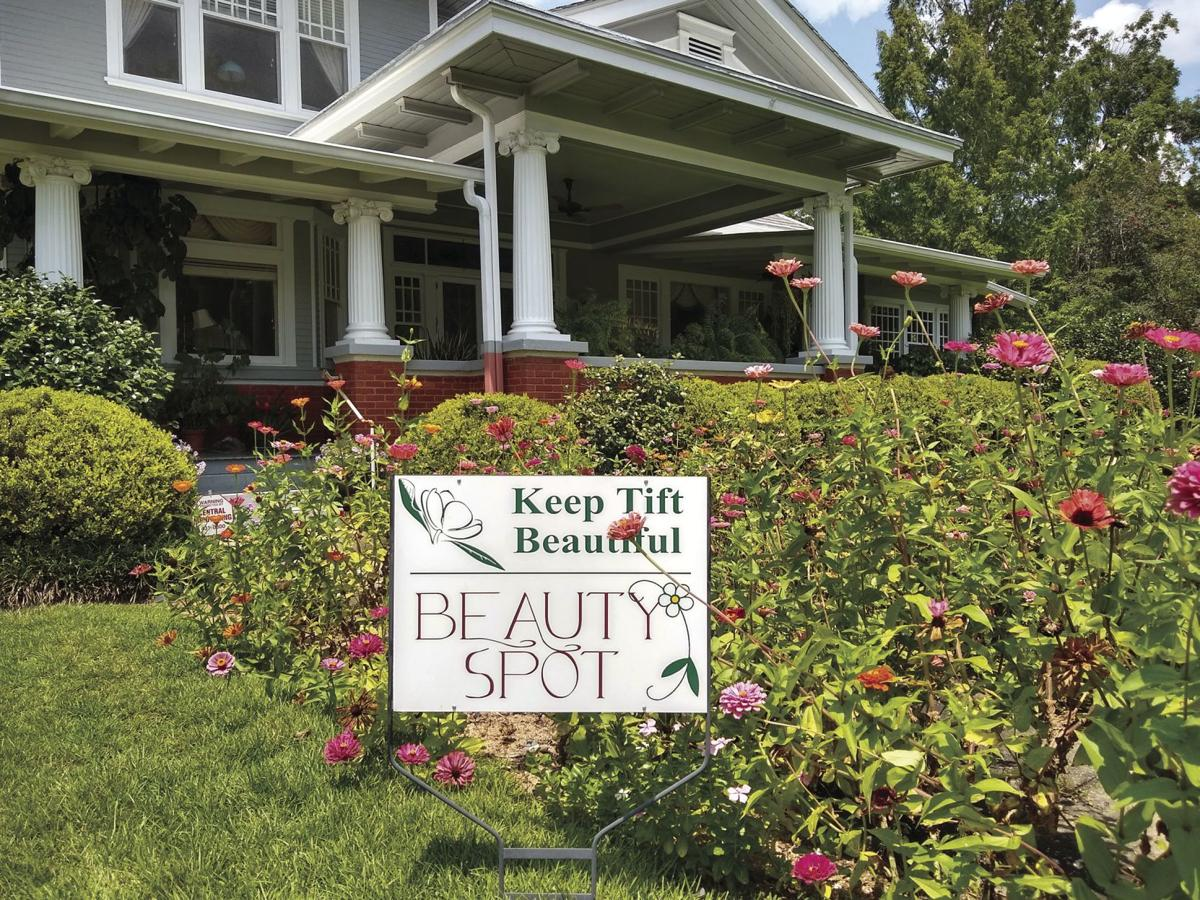 Keep Tift Beautiful is recognizing David Carlson and Steve Dickson at 1002 North Central Ave., Tifton for the residential Beauty Spot of the Month.