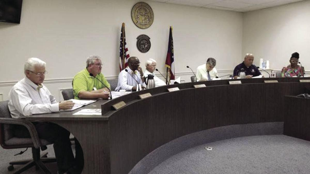 The Tift County Board of Commissioners at the Aug. 12 meeting.