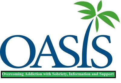 """The preliminary Oasis logo designed for the RCO. Oasis stands for """"Overcoming Addiction with Sobriety, Information and Support."""""""