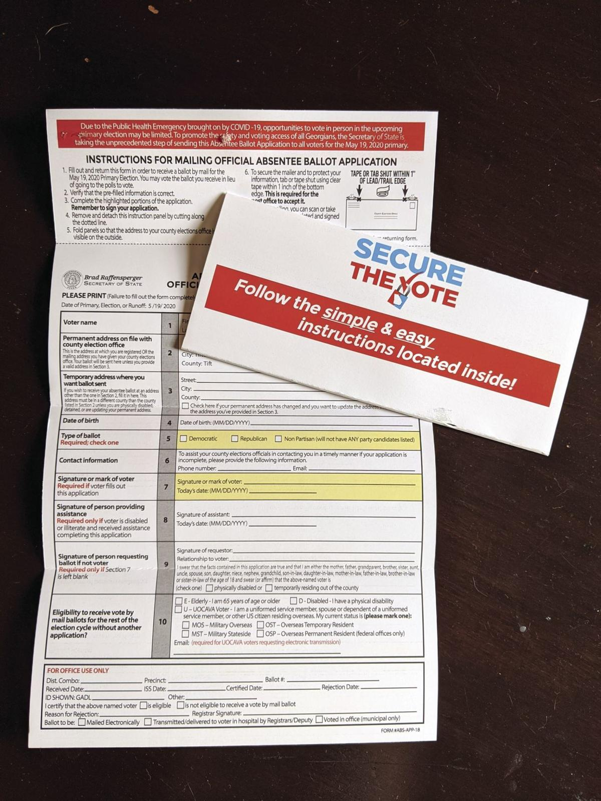 Voters across the state have begun receiving absentee ballot applications in the mail.
