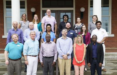 New ABAC faculty include: first row (l-r): Dr. Joseph Weakland, Dr. Farish Mulkey, Dr. Shannon Kidombo, Crosby Steen, Sarah Roberts, and Dr. Olumide Aborisade; second row (l-r): Jeff Conley, Randy Minton, Elwanda Coston, Dr. Eric Larson, Dr. Sara Eastwood, and Dr. Israel Martinez-Franco; third row (l-r): Monica Springer, Sara Rooks, Dr. Matthew Casimiro, Dr. Raj Rajendran, Hannah Whitaker, and Arielle Hunt.