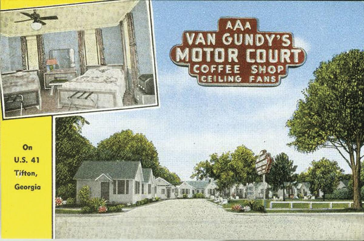 A Van Gundy's Motor Court advertisement from the 1950s.