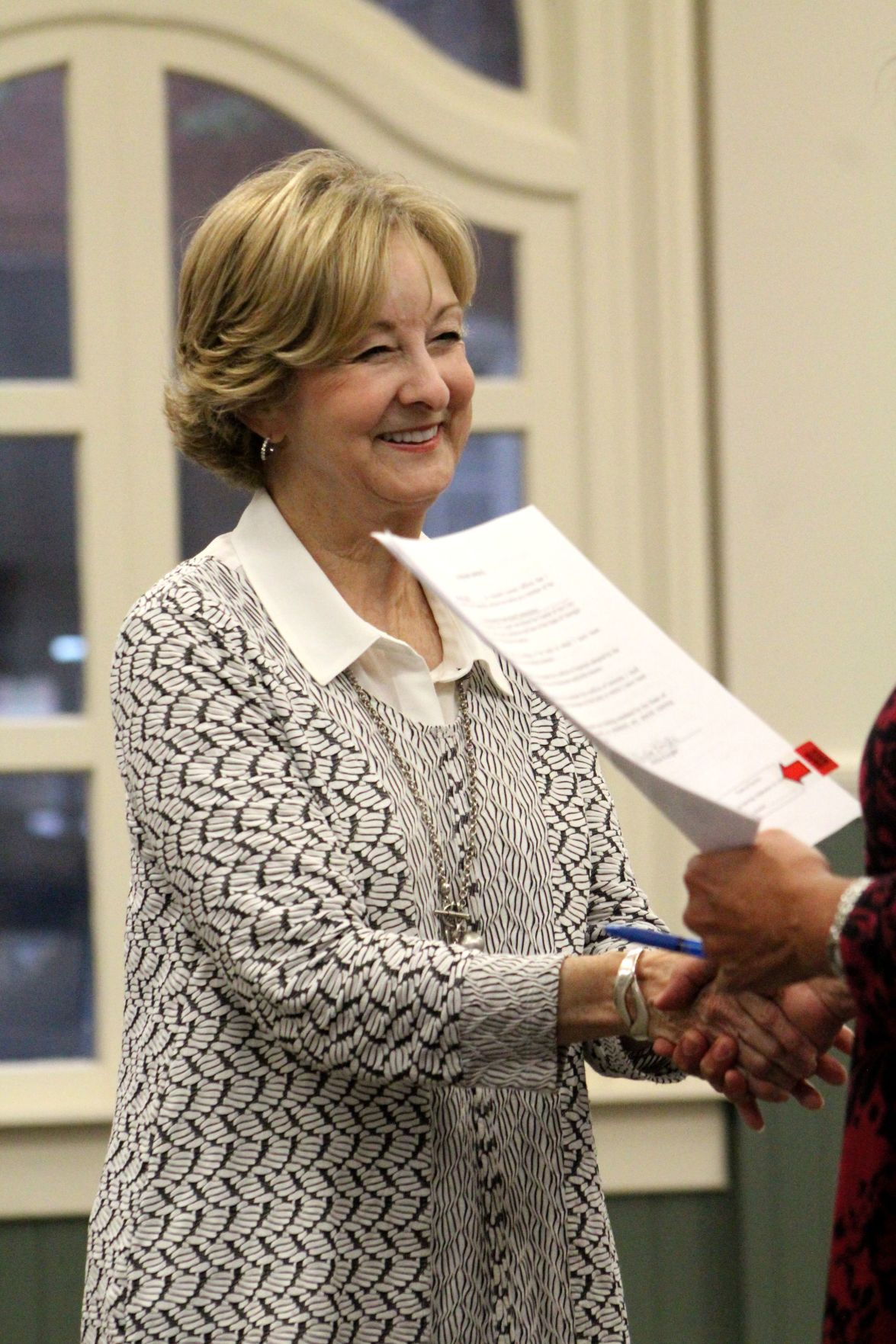 Melba Knight was sworn in to the Tifton Historic Preservation Commission.