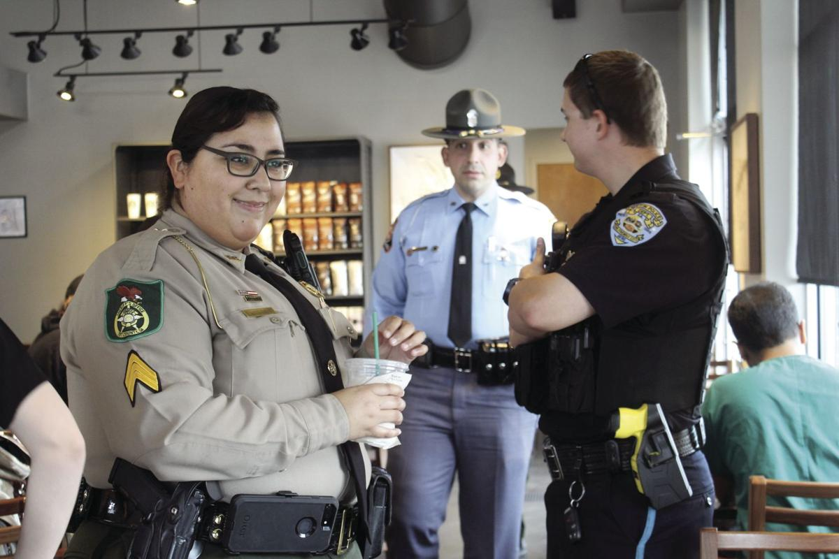 Representatives from all three local law enforcement agencies—the Tifton Police Department, Tift County Sheriff's Office and Georgia State Patrol—attended Coffee with a Cop.