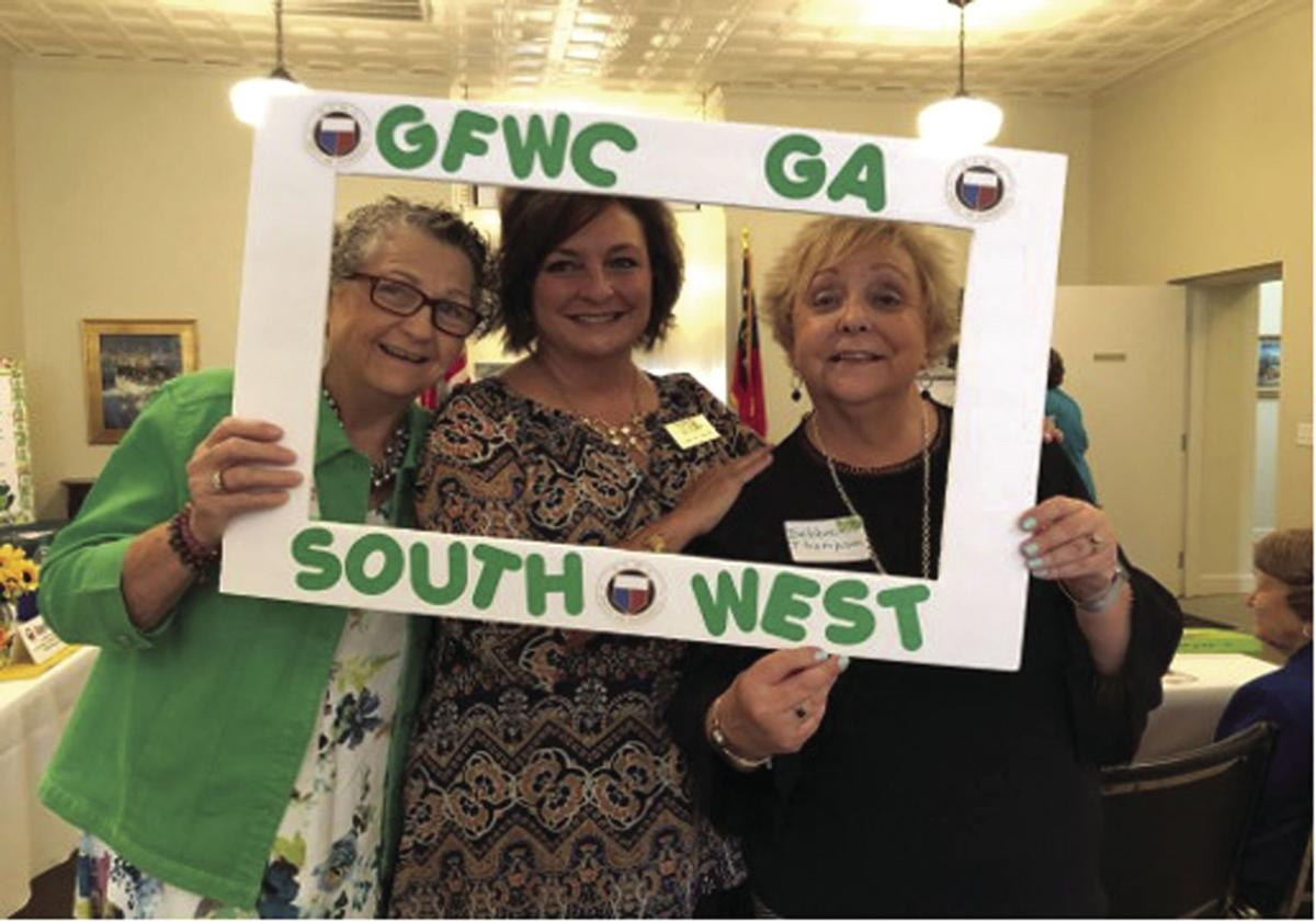 Tifton mayor Julie Smith, center, welcomed the various women's clubs to the meeting.